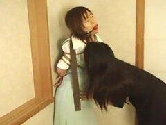 Japonesa lesbiana bondage-1, Sexy mujer japonesa atado y burlas