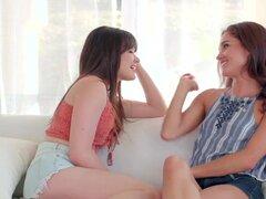 Lesbiana adolescente nena bordeado