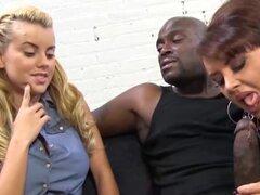 Hija mamá negra Dick trío divertido