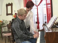 Pierced clit mature redhead and the blonde guy fucking - Gysela