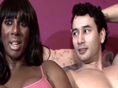 Transexuales negros cara cummed