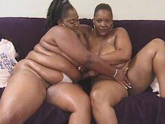 Lesbianas negras enormes con un gran juguete
