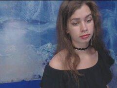18yo Teen rusa por primera vez en vivo y muy tímido