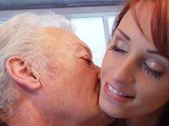 Abuelo de sexo amante Gustavo follando coño joven en casting porno