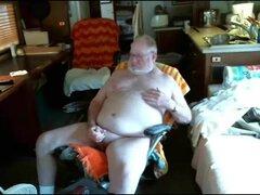 abuelo y papá en webcam